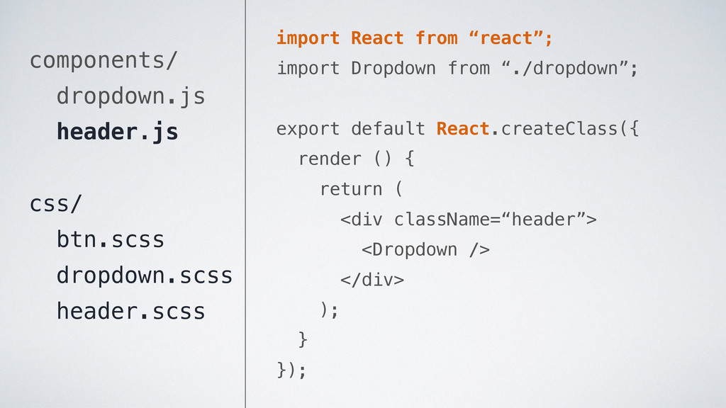 """import React from """"react""""; import Dropdown from..."""