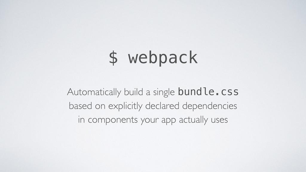 Automatically build a single bundle.css based ...