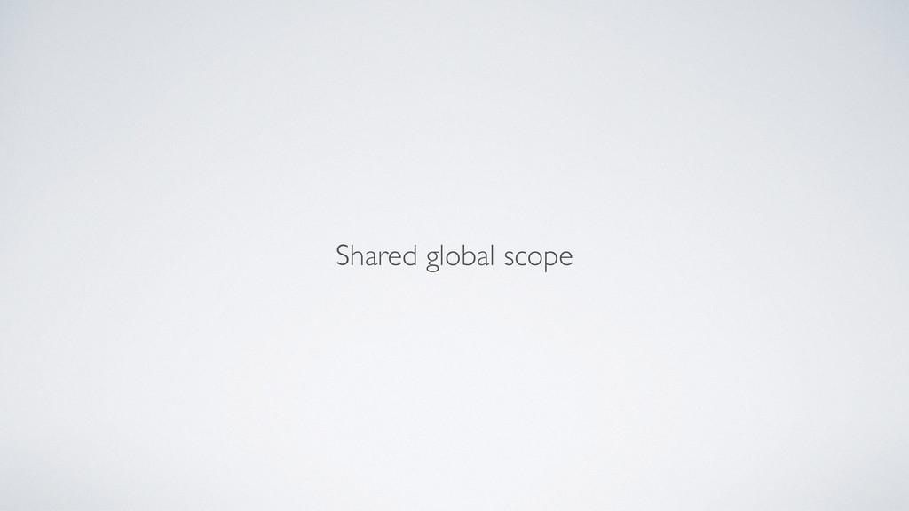 Shared global scope