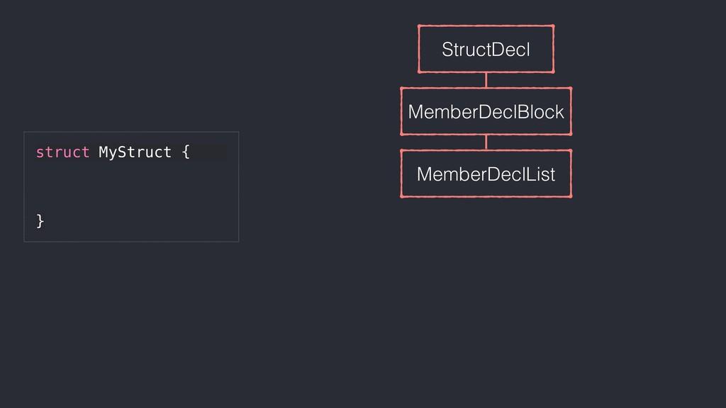 StructDecl MemberDeclBlock MemberDeclList struc...