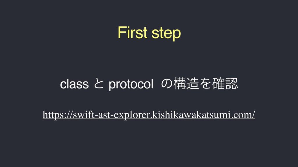 class ͱ protocol ͷߏΛ֬ https://swift-ast-explo...