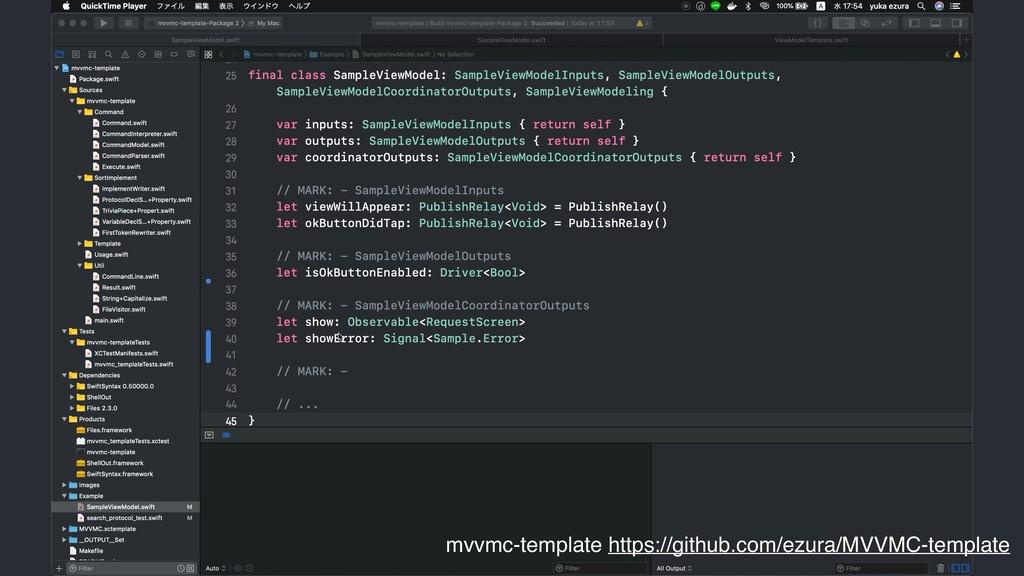 mvvmc-template https://github.com/ezura/MVVMC-t...