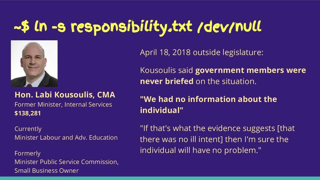 ~$ ln -s responsibility.txt /dev/null April 18,...