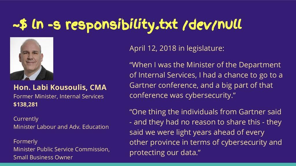 ~$ ln -s responsibility.txt /dev/null April 12,...
