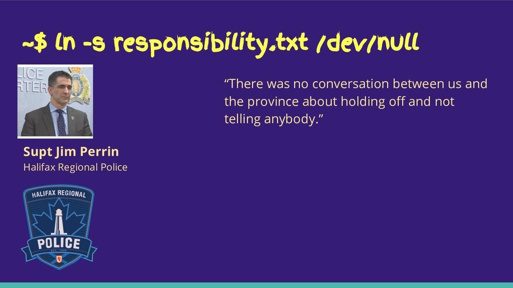 "~$ ln -s responsibility.txt /dev/null ""There wa..."