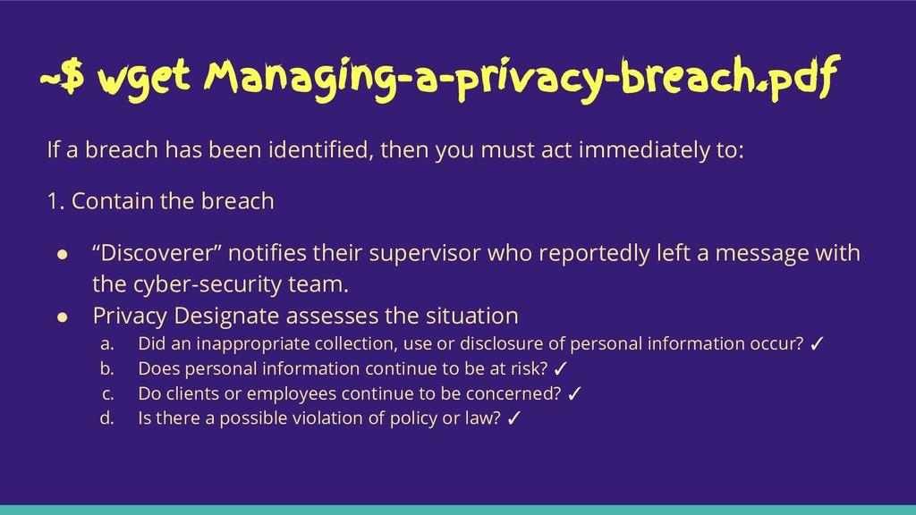 ~$ wget Managing-a-privacy-breach.pdf If a brea...