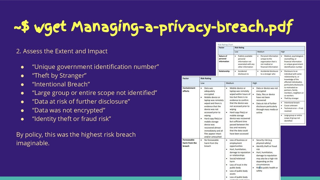 ~$ wget Managing-a-privacy-breach.pdf 2. Assess...