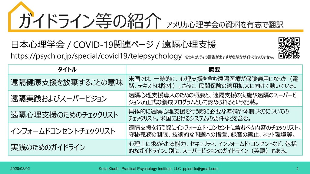 4 Keita Kiuchi Practical Psychology Institute, ...