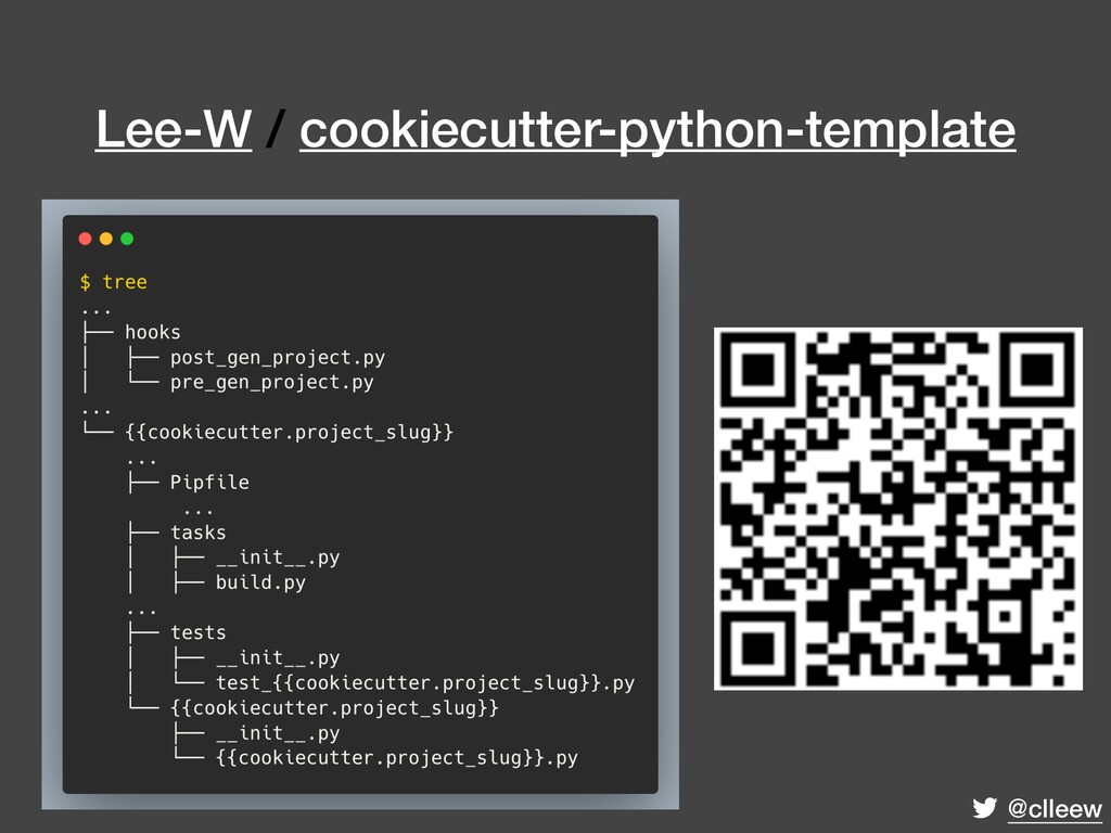 @clleew Lee-W / cookiecutter-python-template