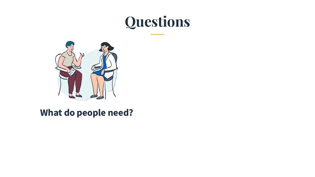 Questions What do people need?
