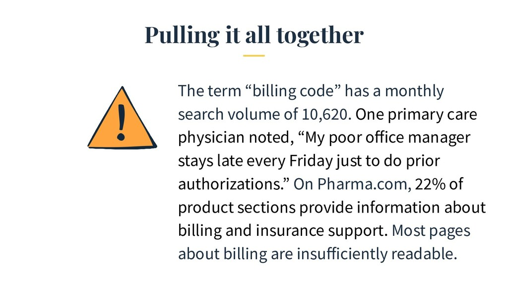 "Pulling it all together The term ""billing code""..."