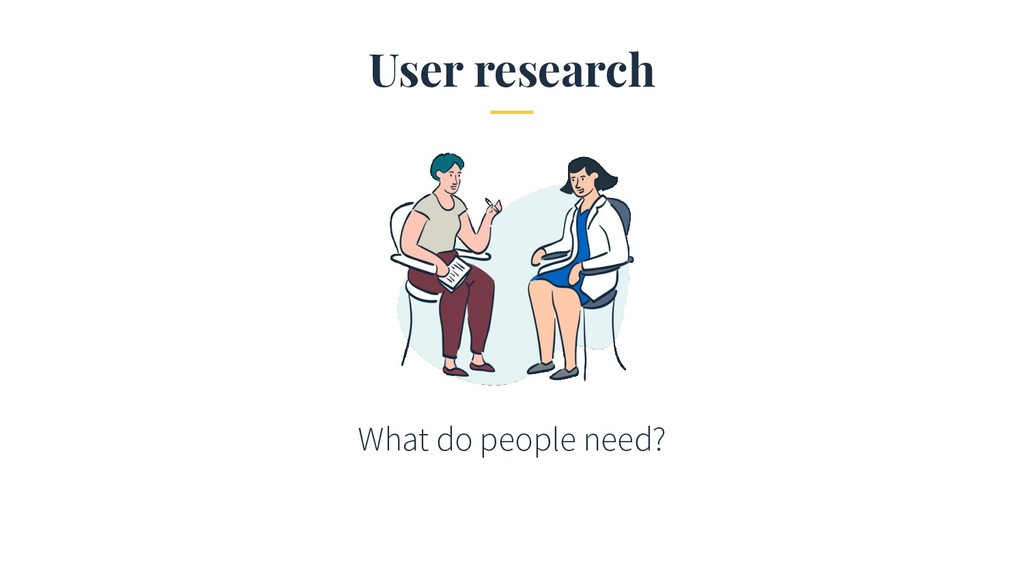 User research What do people need?