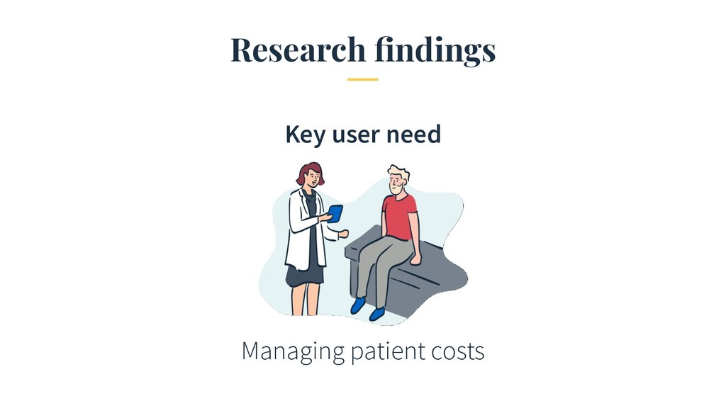 Research findings Managing patient costs Key use...