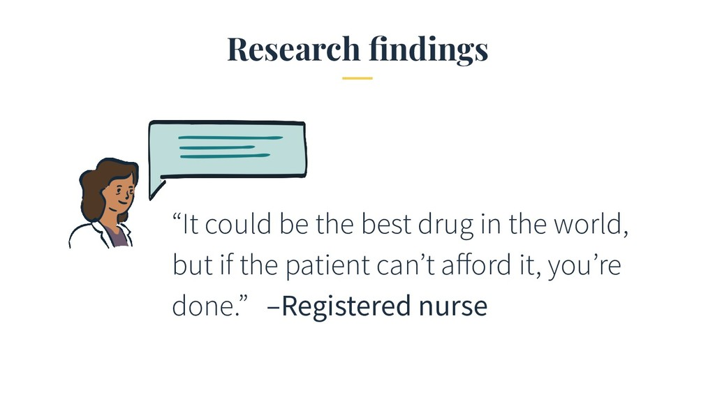 "Research findings ""It could be the best drug in ..."