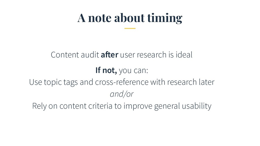 A note about timing Content audit after user re...