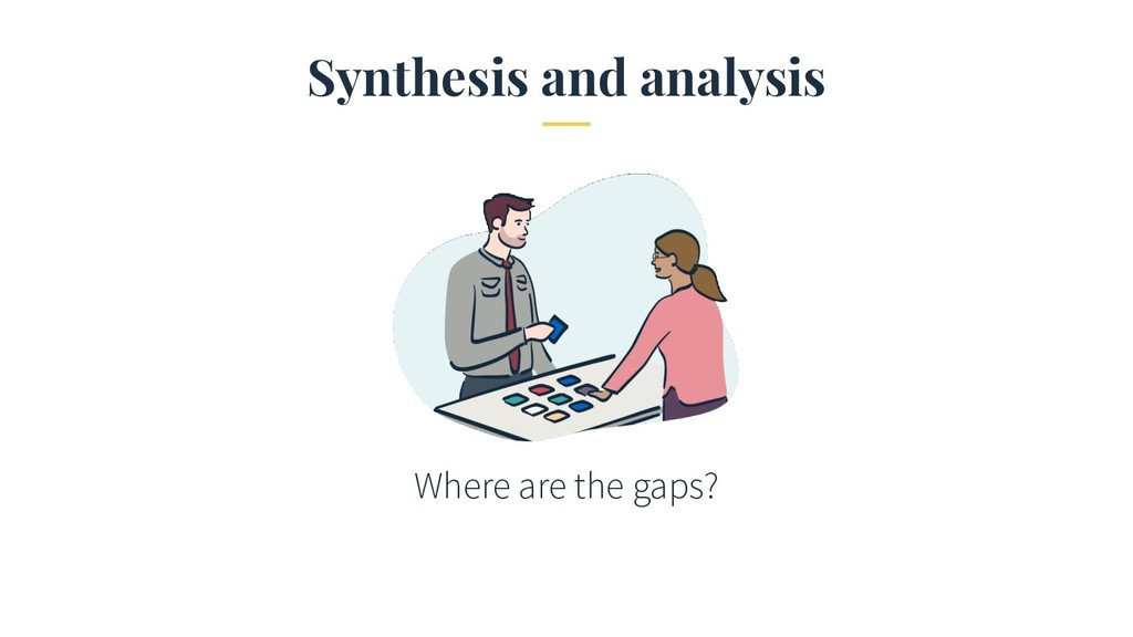 Synthesis and analysis Where are the gaps?