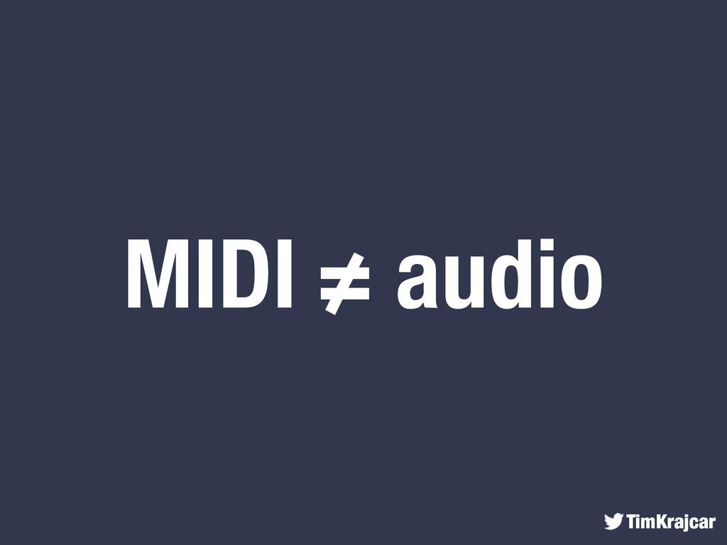 TimKrajcar MIDI ≠ audio