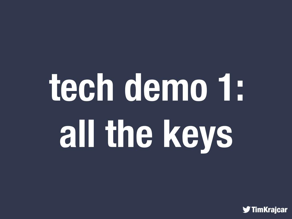 TimKrajcar tech demo 1: all the keys