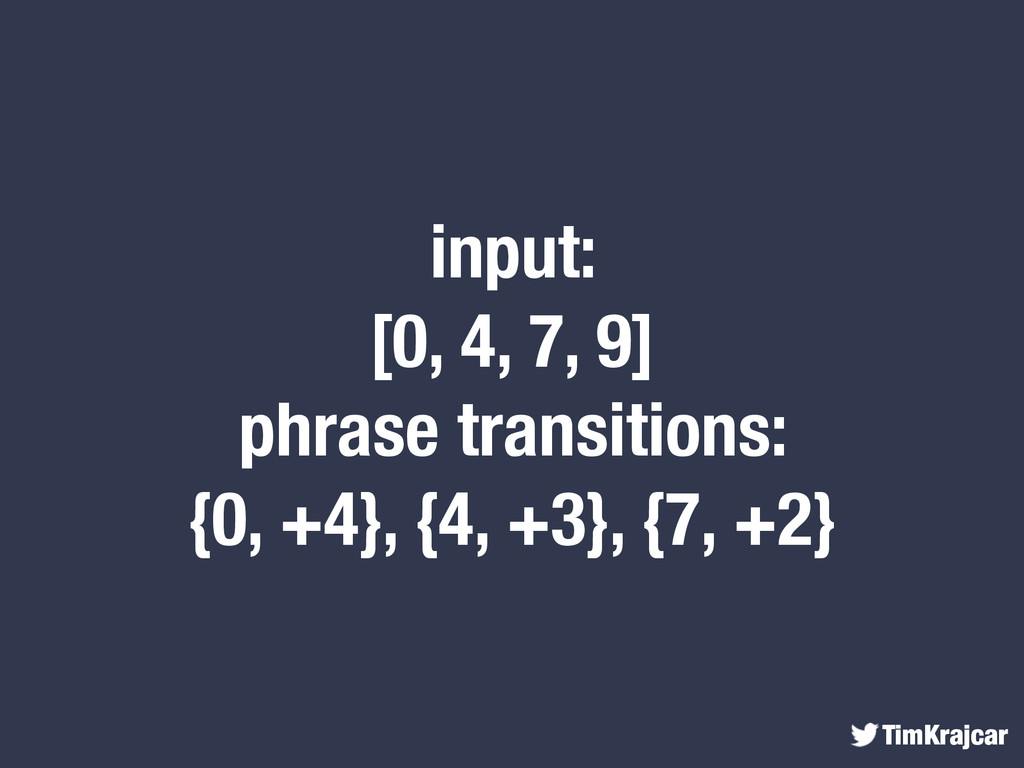TimKrajcar input: [0, 4, 7, 9] phrase transitio...