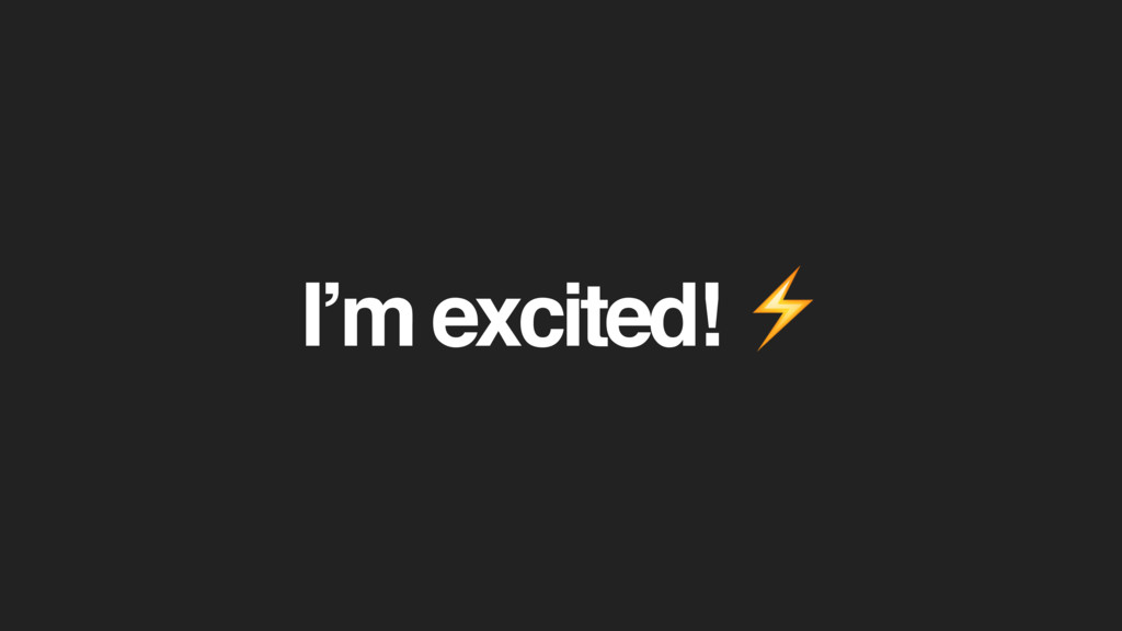 I'm excited! ⚡