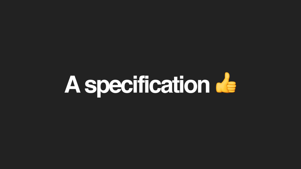 A specification