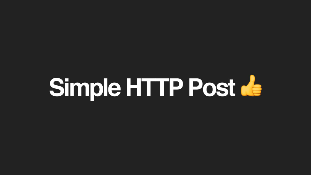 Simple HTTP Post