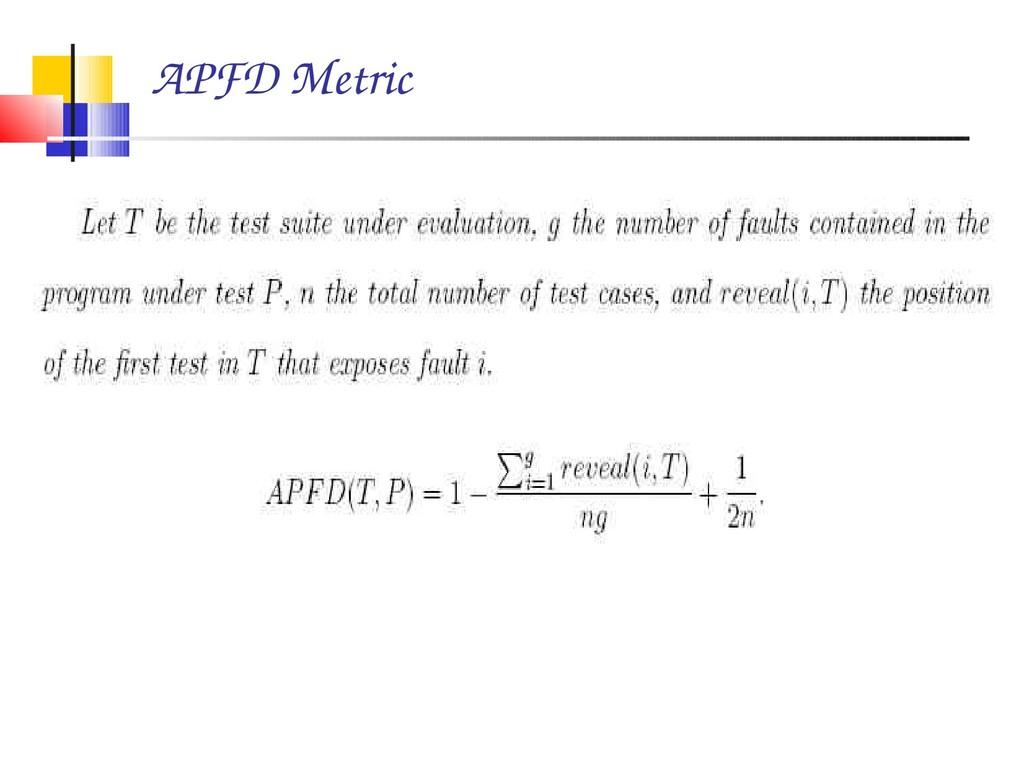 APFD Metric
