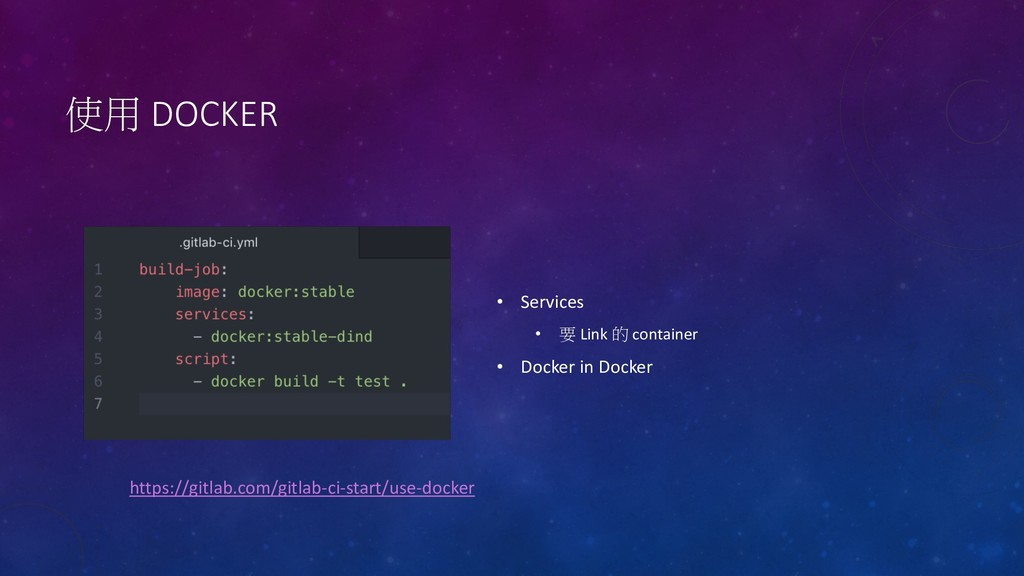 DOCKER • Services •  Link  container • Doc...