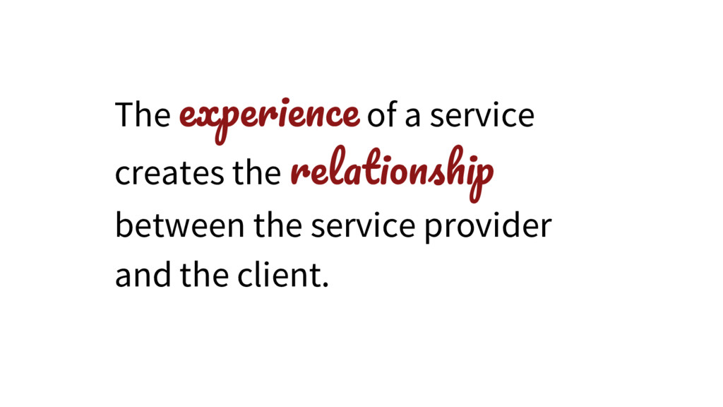 The of a service creates the between the servic...