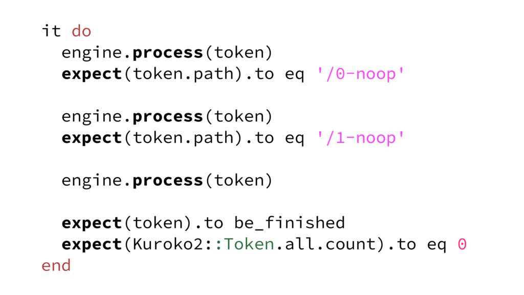 it do engine.process(token) expect(token.path)....