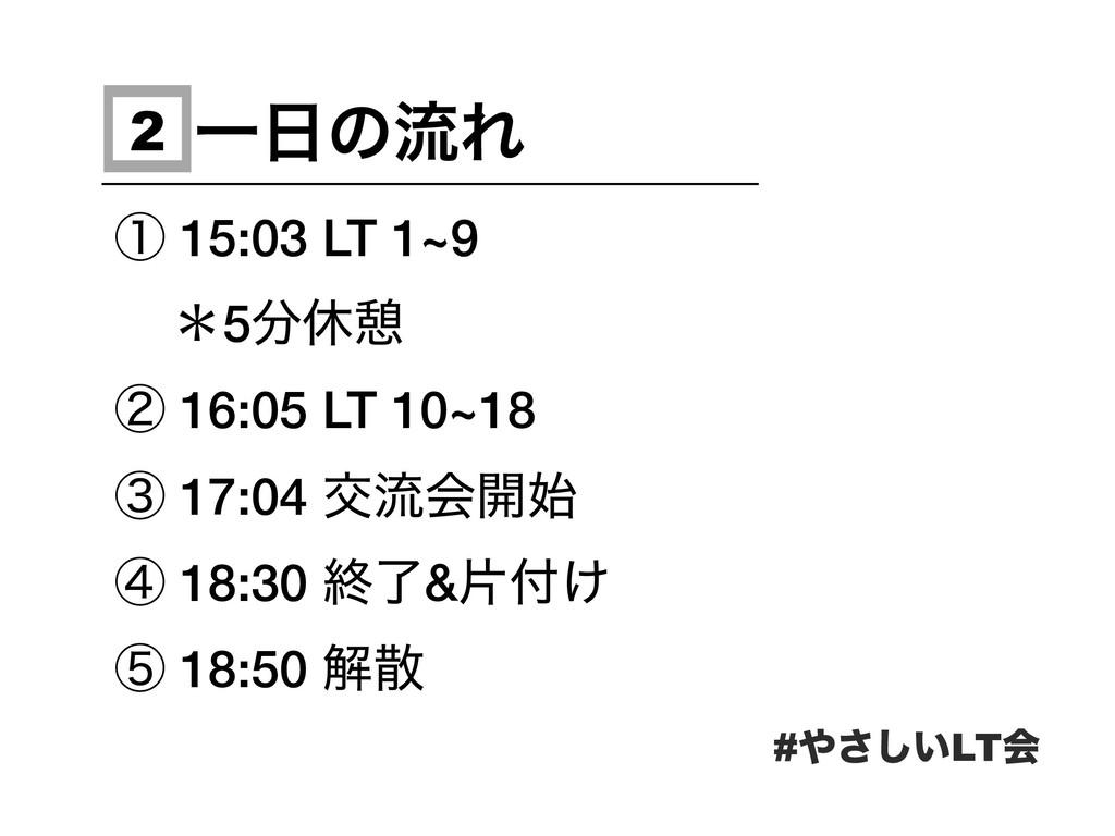 ҰͷྲྀΕ ᶃ 15:03 LT 1~9 ˎ5ٳܜ ᶄ 16:05 LT 10~18 ᶅ 1...