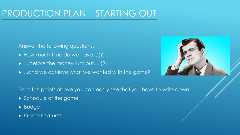 PRODUCTION PLAN – STARTING OUT Answer the follo...