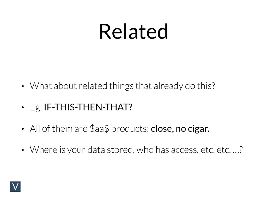 Related • What about related things that alread...
