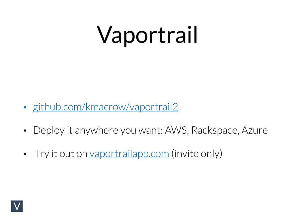 Vaportrail • github.com/kmacrow/vaportrail2 • D...
