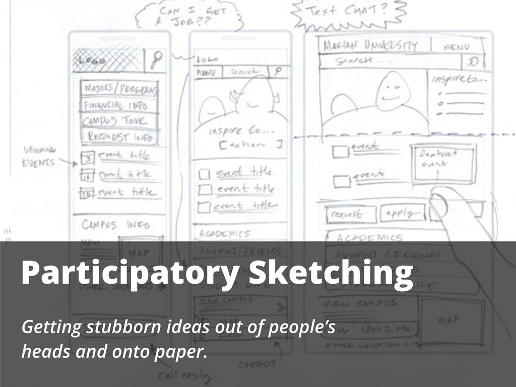 Participatory Sketching Getting stubborn ideas ...