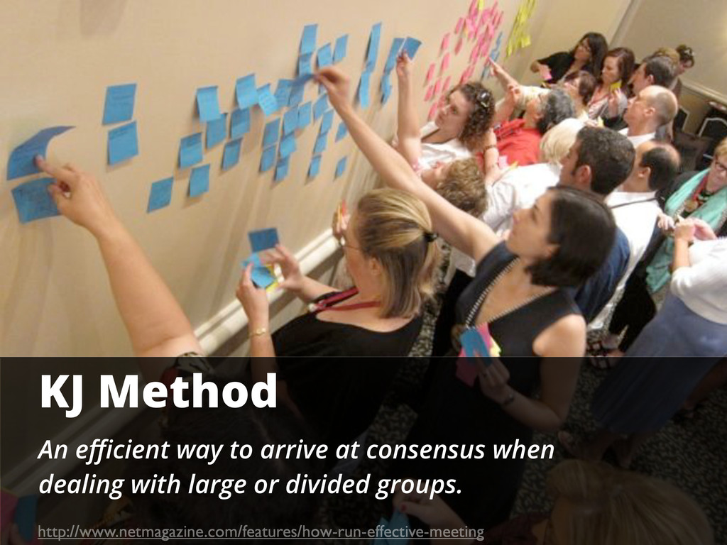 KJ Method An efficient way to arrive at consensus...