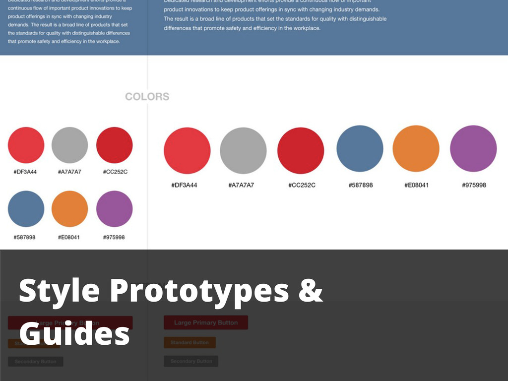 Style Prototypes & Guides
