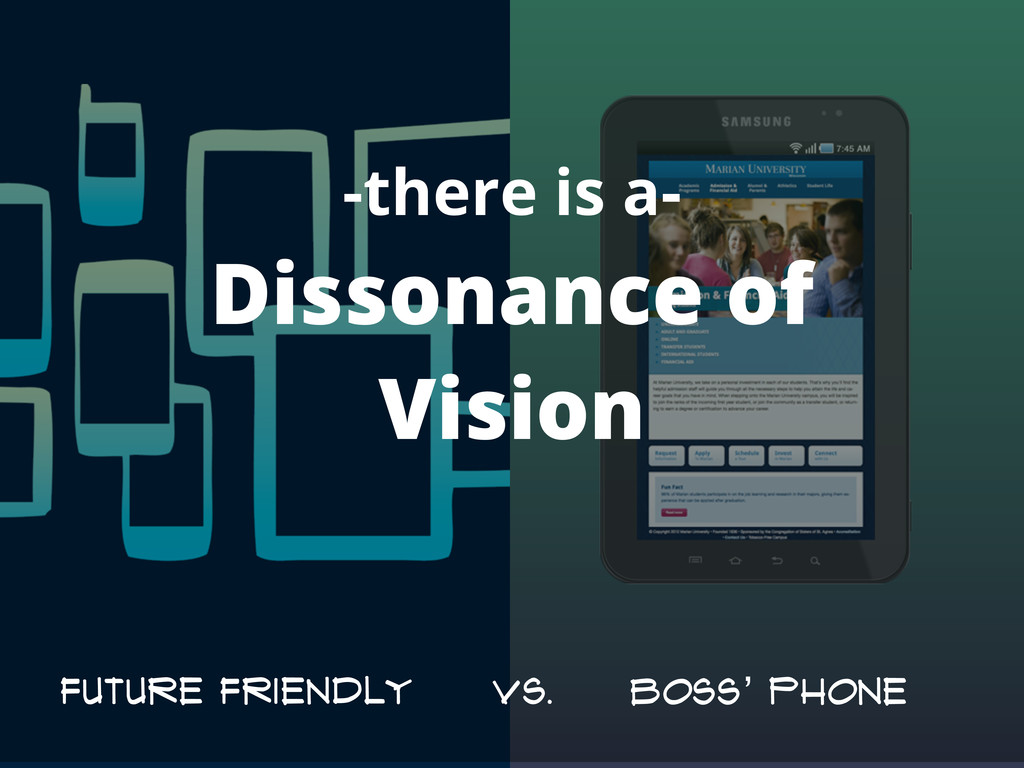 -there is a- Dissonance of Vision Future Friend...