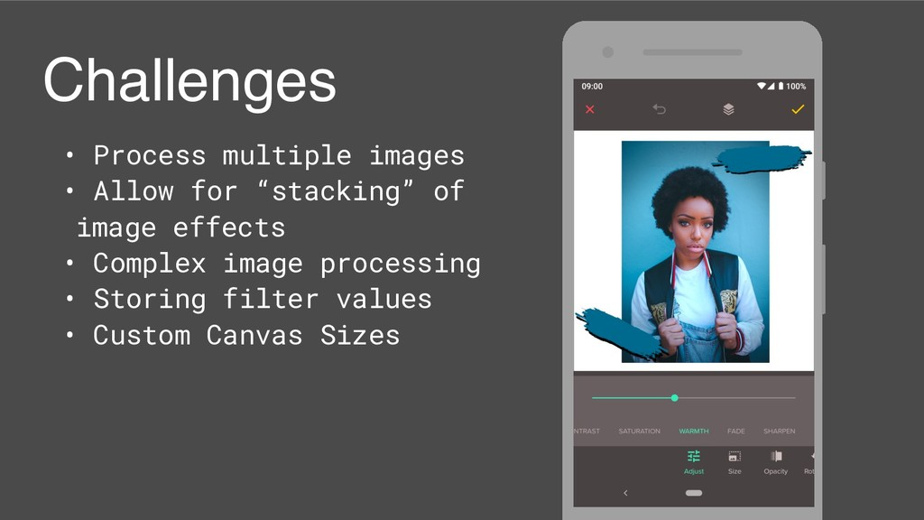 Challenges • Process multiple images • Allow fo...