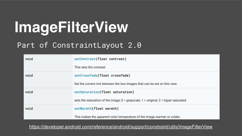 ImageFilterView Part of ConstraintLayout 2.0 ht...