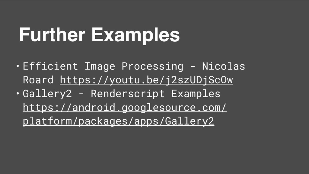 Further Examples • Efficient Image Processing -...