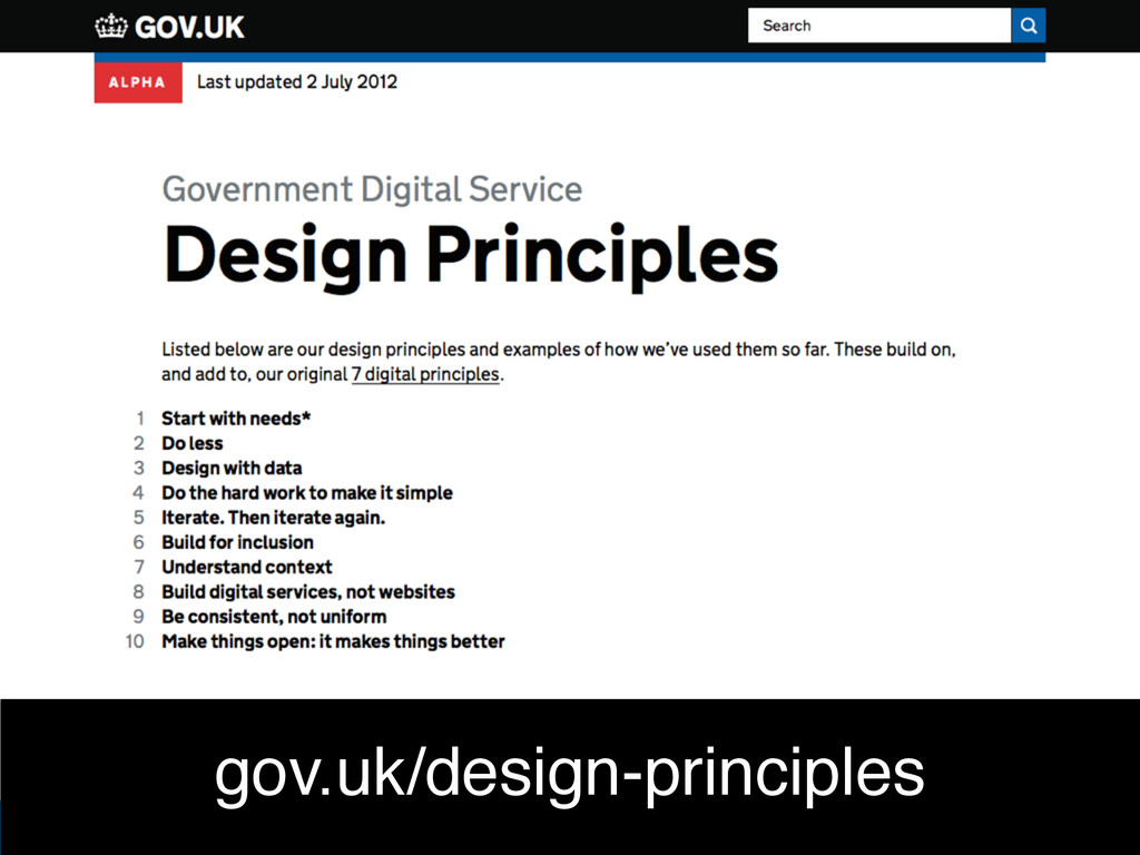 Ben Holliday gov.uk/design-principles
