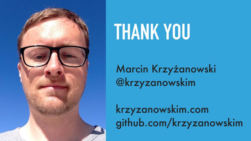 THANK YOU Marcin Krzyżanowski @krzyzanowskim kr...
