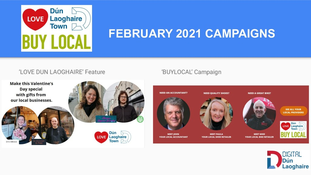 FEBRUARY 2021 CAMPAIGNS 'LOVE DUN LAOGHAIRE' Fe...