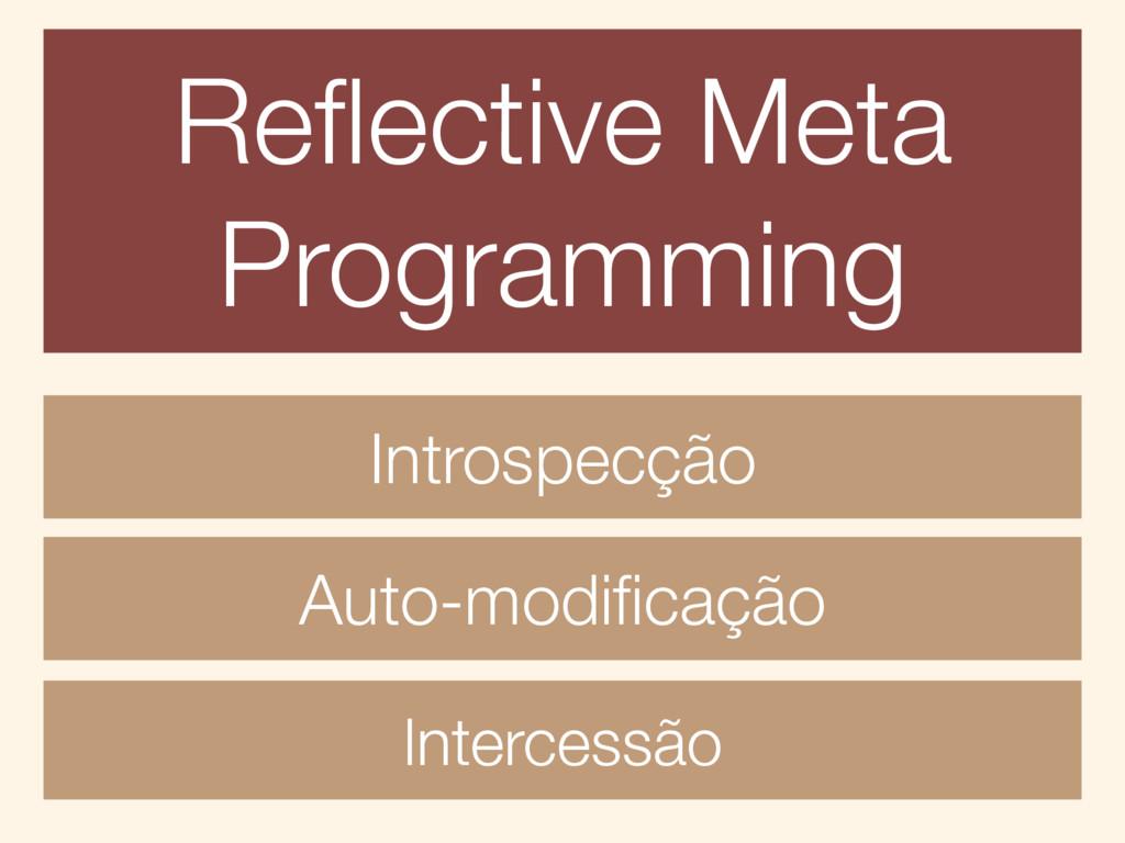 Reflective Meta Programming Introspecção Auto-mo...