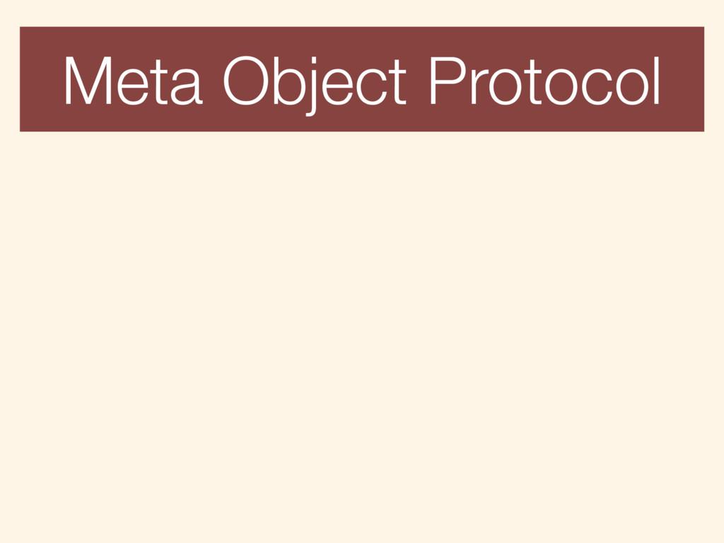 Meta Object Protocol