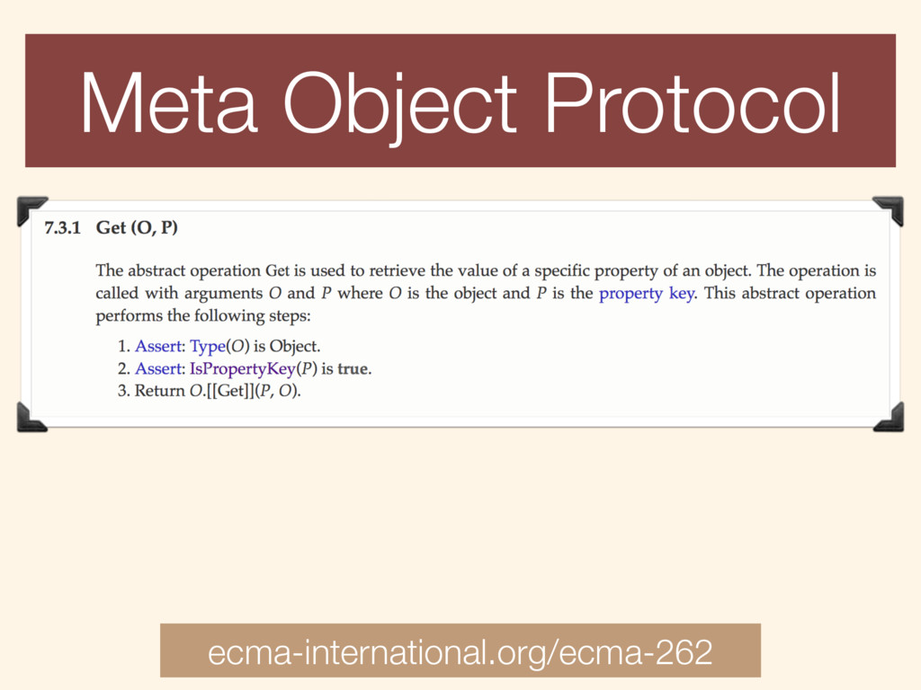 Meta Object Protocol ecma-international.org/ecm...