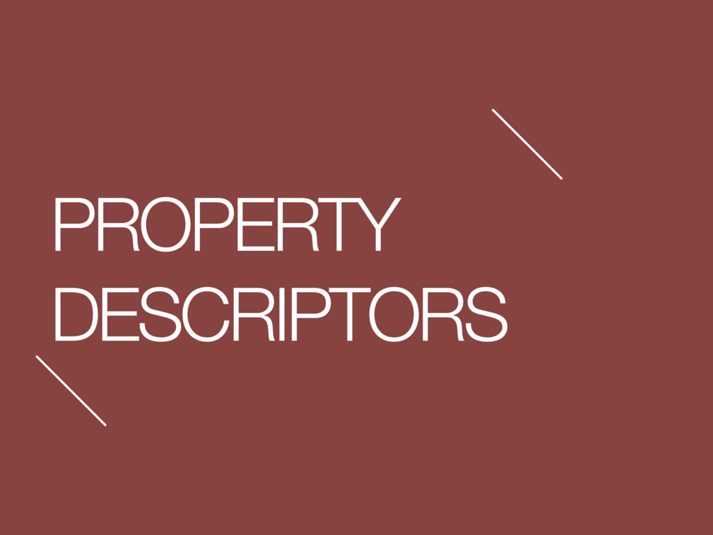 PROPERTY DESCRIPTORS