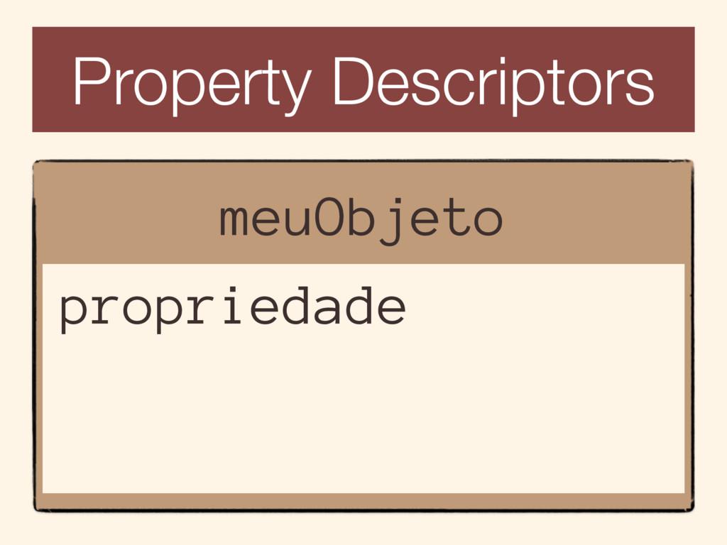 Property Descriptors meuObjeto propriedade