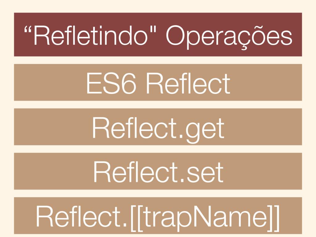 """""""Refletindo"""" Operações ES6 Reflect Reflect.get Refl..."""